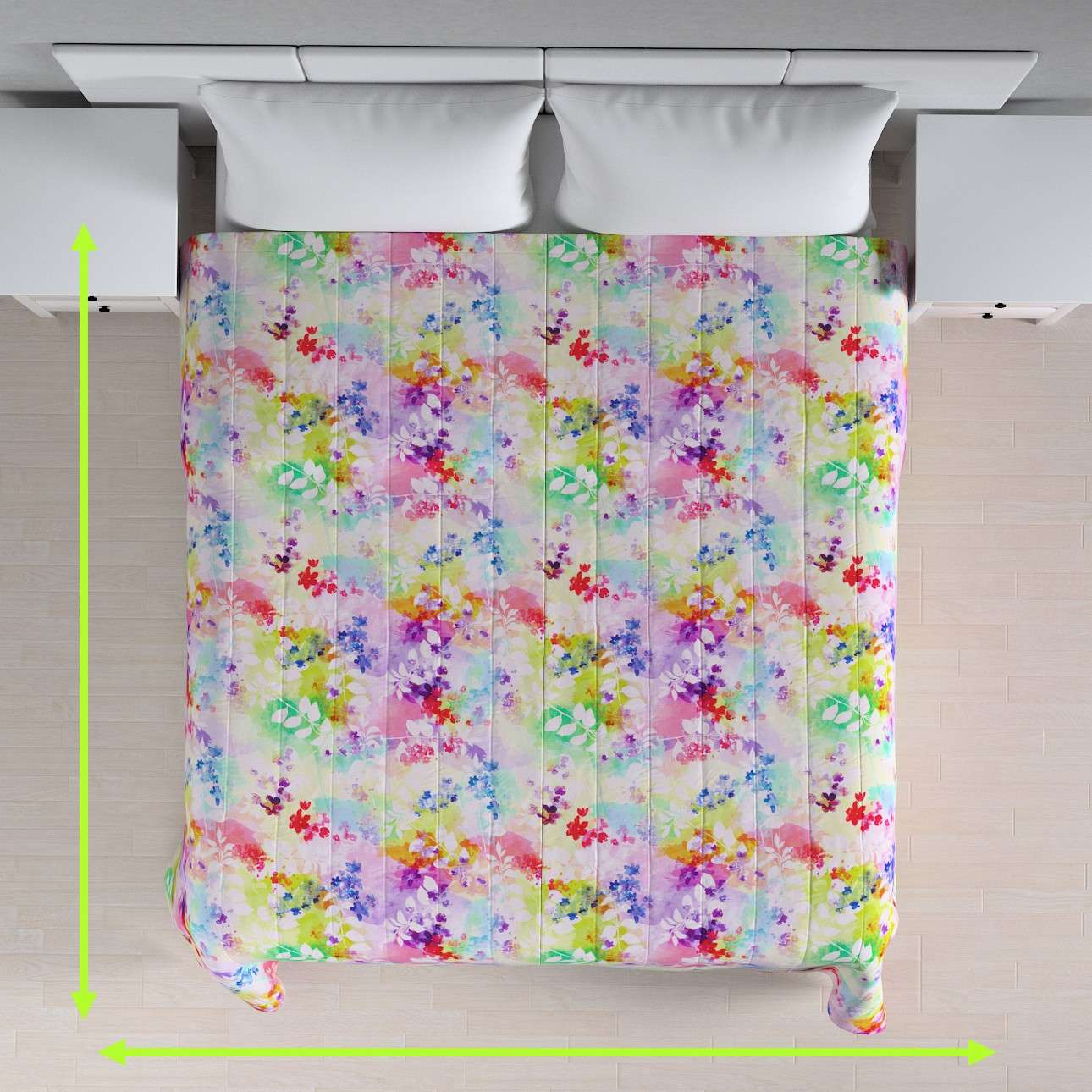 Quilted throw (vertical quilt pattern) in collection Monet, fabric: 140-07