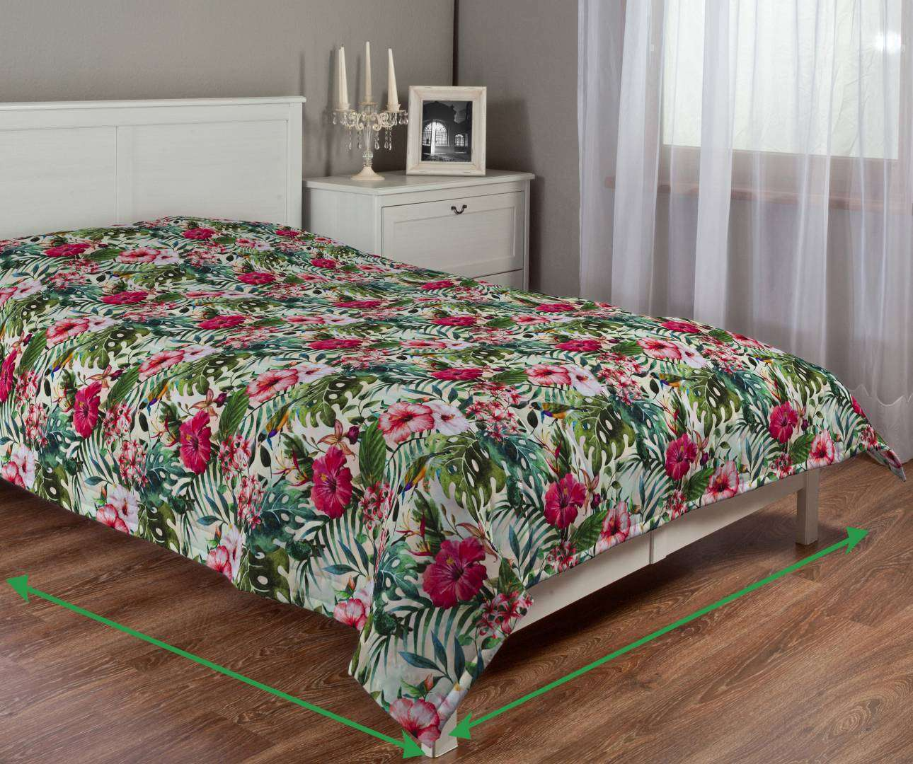 Quilted throw (vertical quilt pattern) in collection New Art, fabric: 140-21