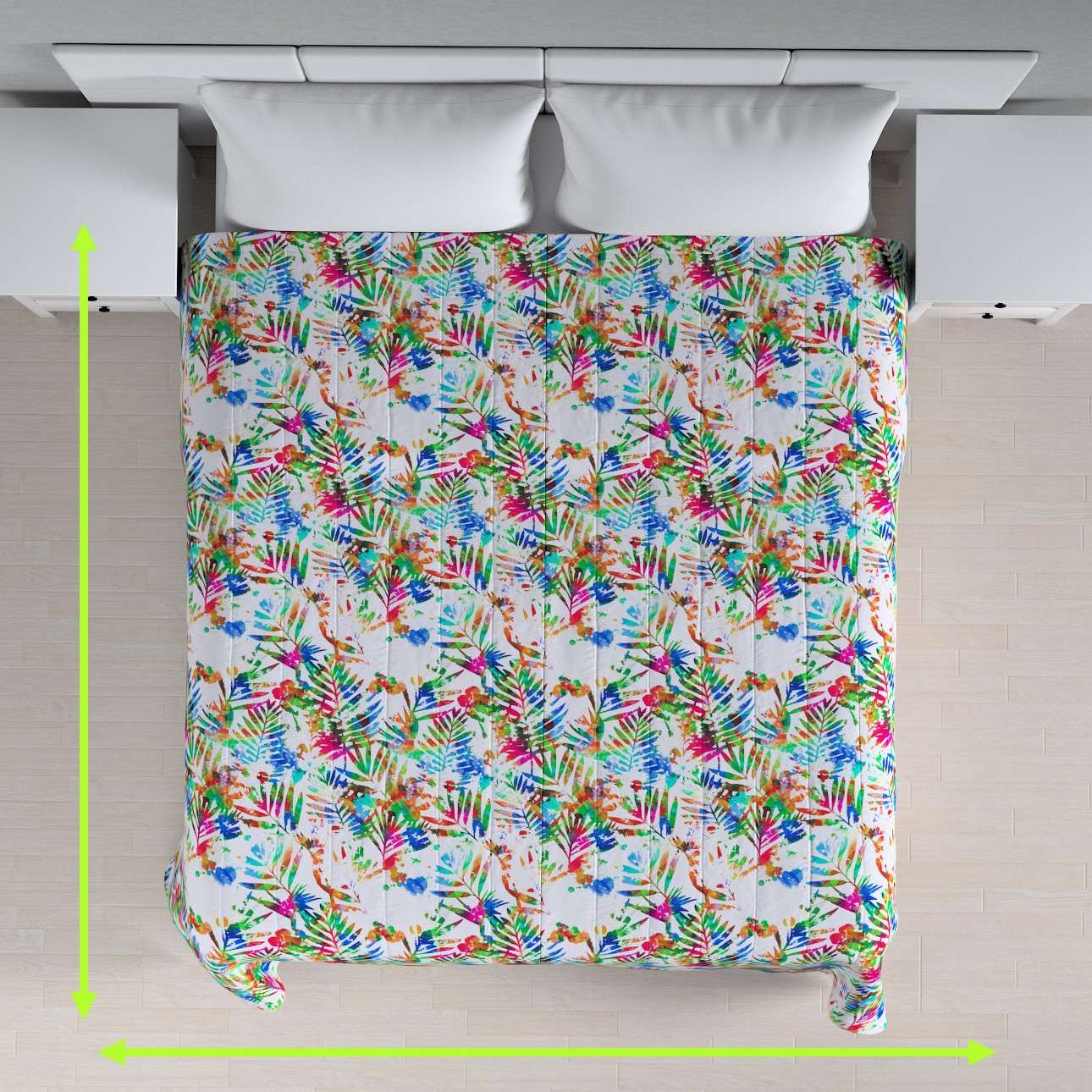 Quilted throw (vertical quilt pattern) in collection New Art, fabric: 140-22