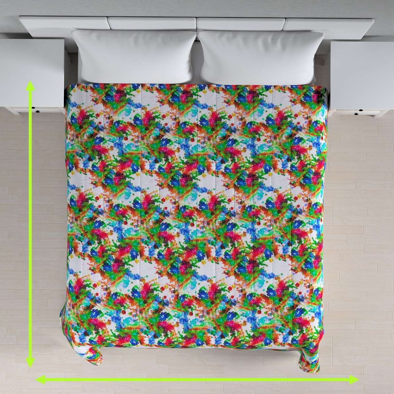 Quilted throw (vertical quilt pattern) in collection New Art, fabric: 140-23