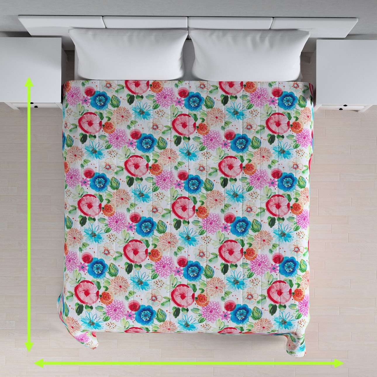 Quilted throw (vertical quilt pattern) in collection New Art, fabric: 140-24