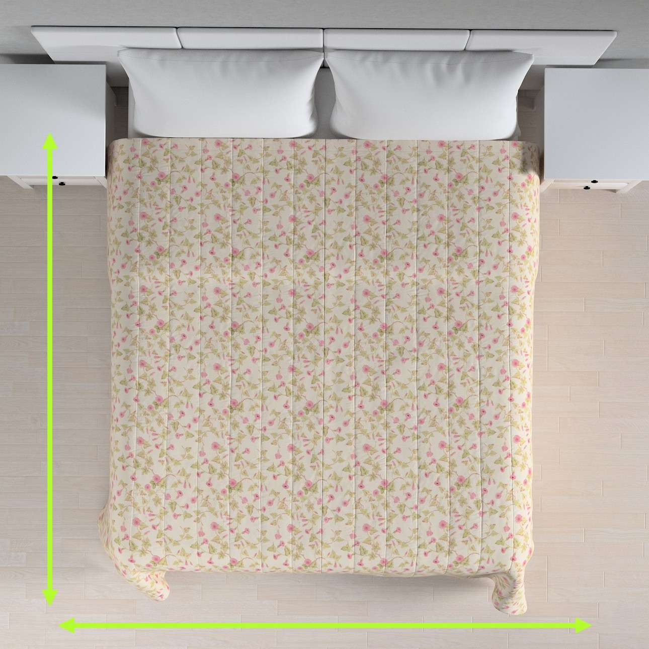 Quilted throw (vertical quilt pattern) in collection Mirella, fabric: 140-41