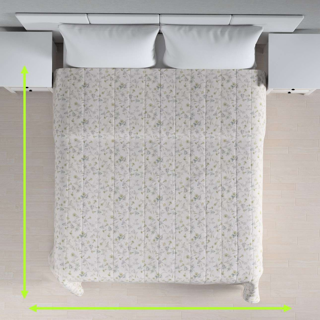 Quilted throw (vertical quilt pattern) in collection Mirella, fabric: 140-42