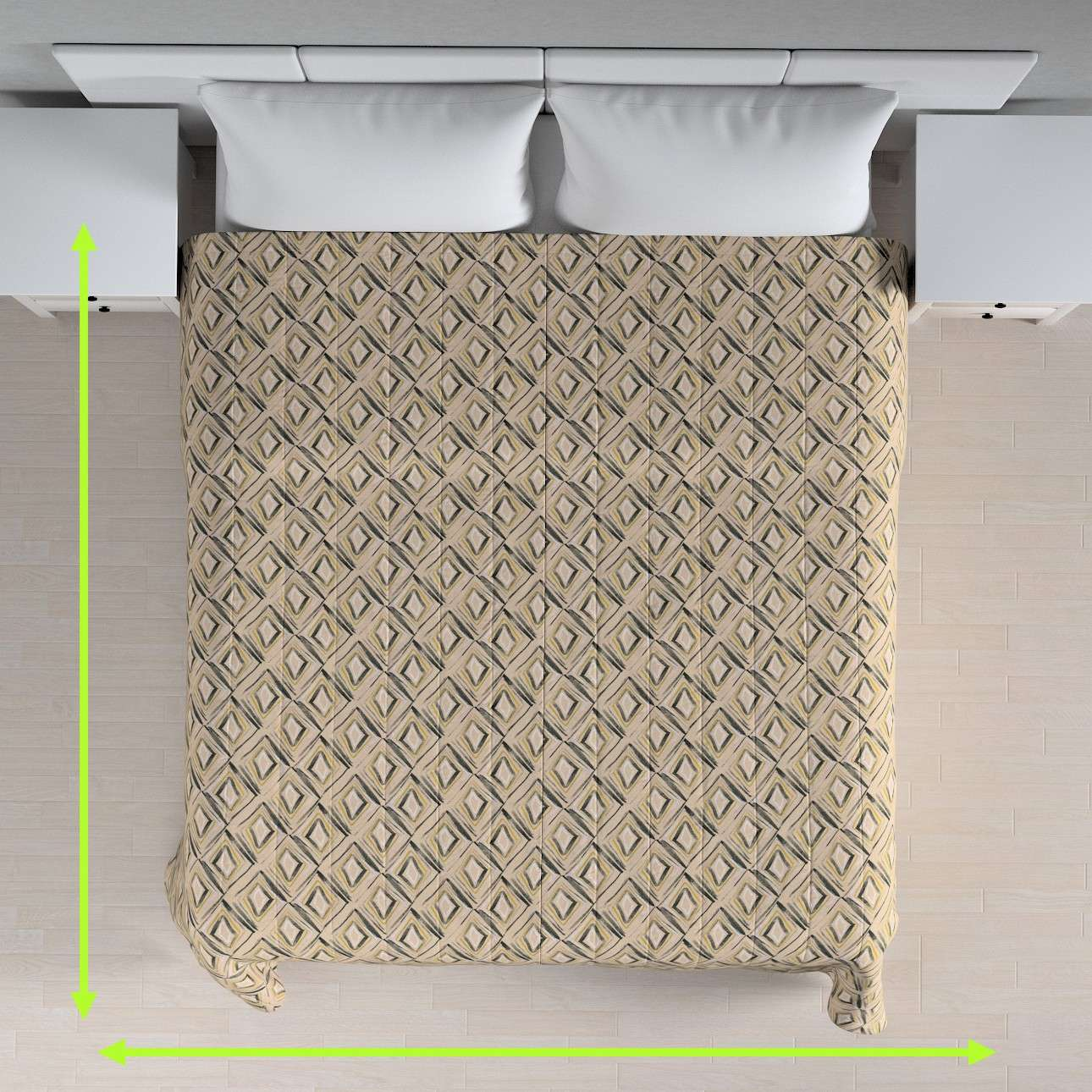 Quilted throw (vertical quilt pattern) in collection Londres, fabric: 140-46