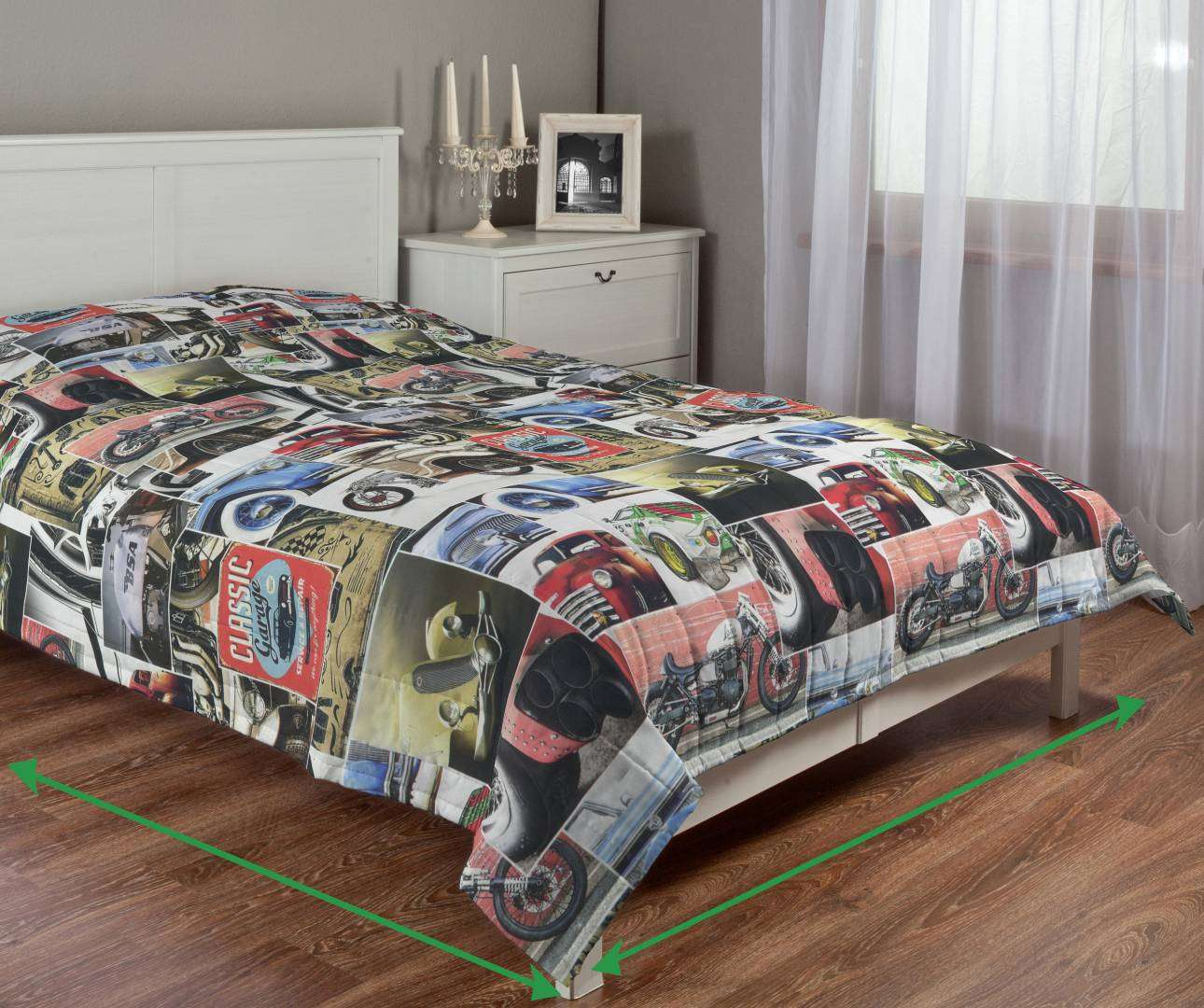 Quilted throw (vertical quilt pattern) in collection Freestyle, fabric: 140-57