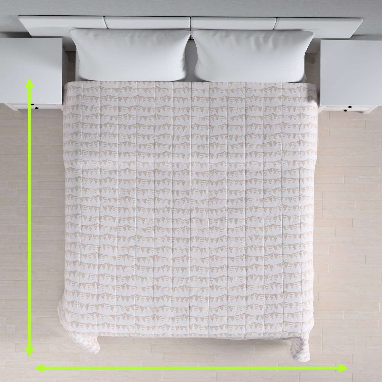 Quilted throw (vertical quilt pattern) in collection Marina, fabric: 140-65