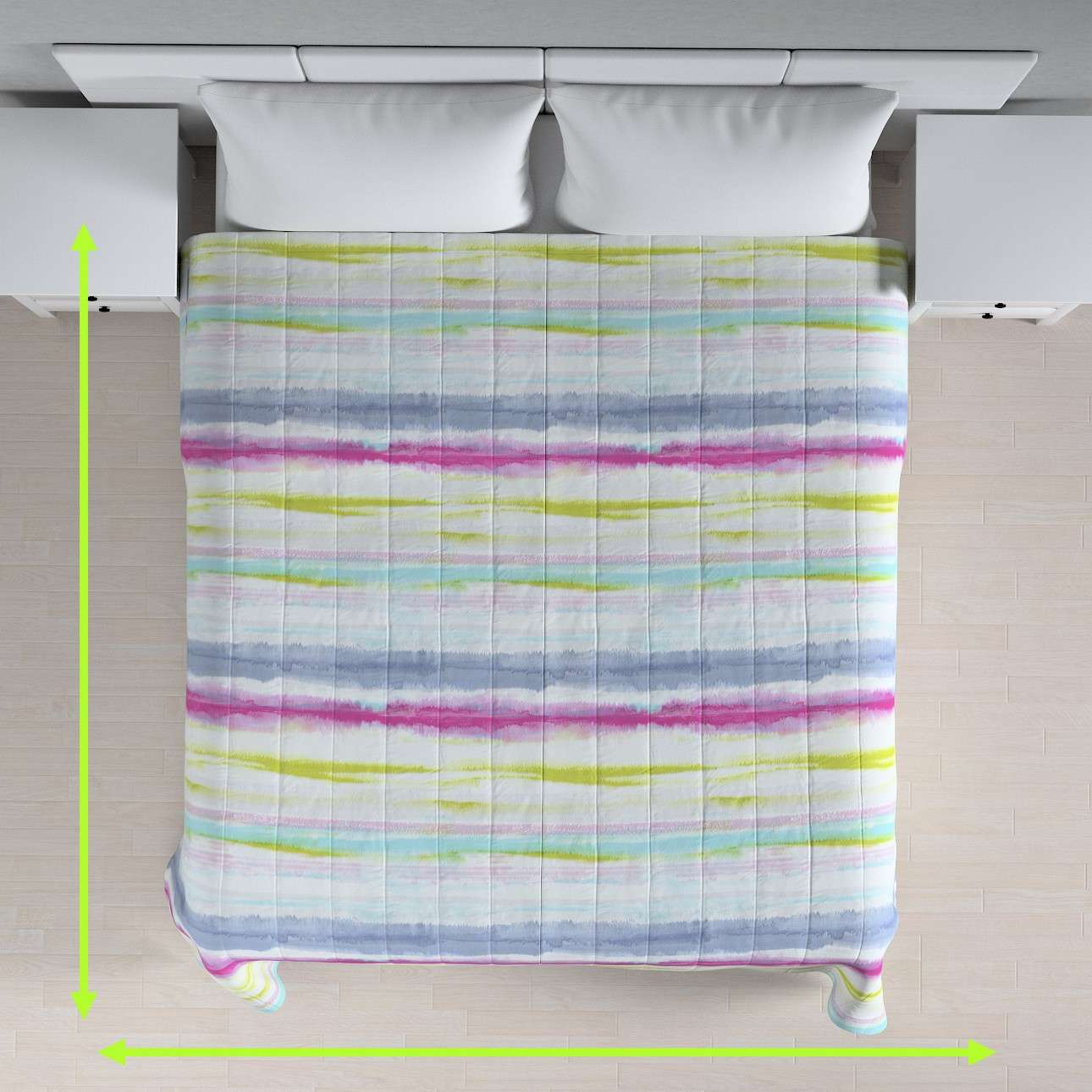 Stripe quilted throw in collection Aquarelle, fabric: 140-69