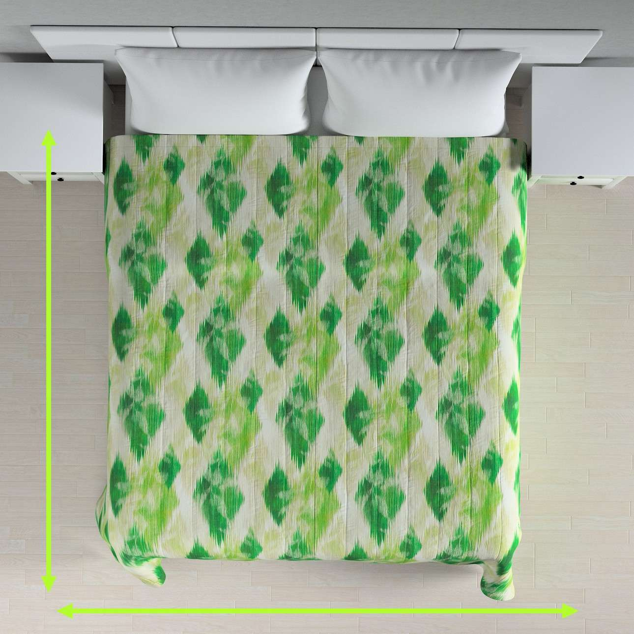Quilted throw (vertical quilt pattern) in collection Aquarelle, fabric: 140-70