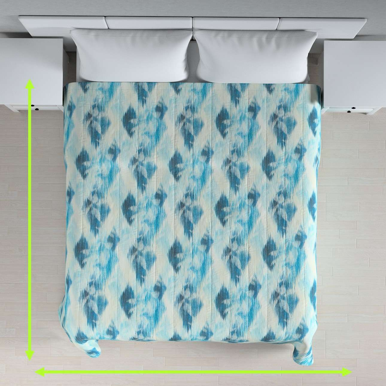 Quilted throw (vertical quilt pattern) in collection Aquarelle, fabric: 140-71