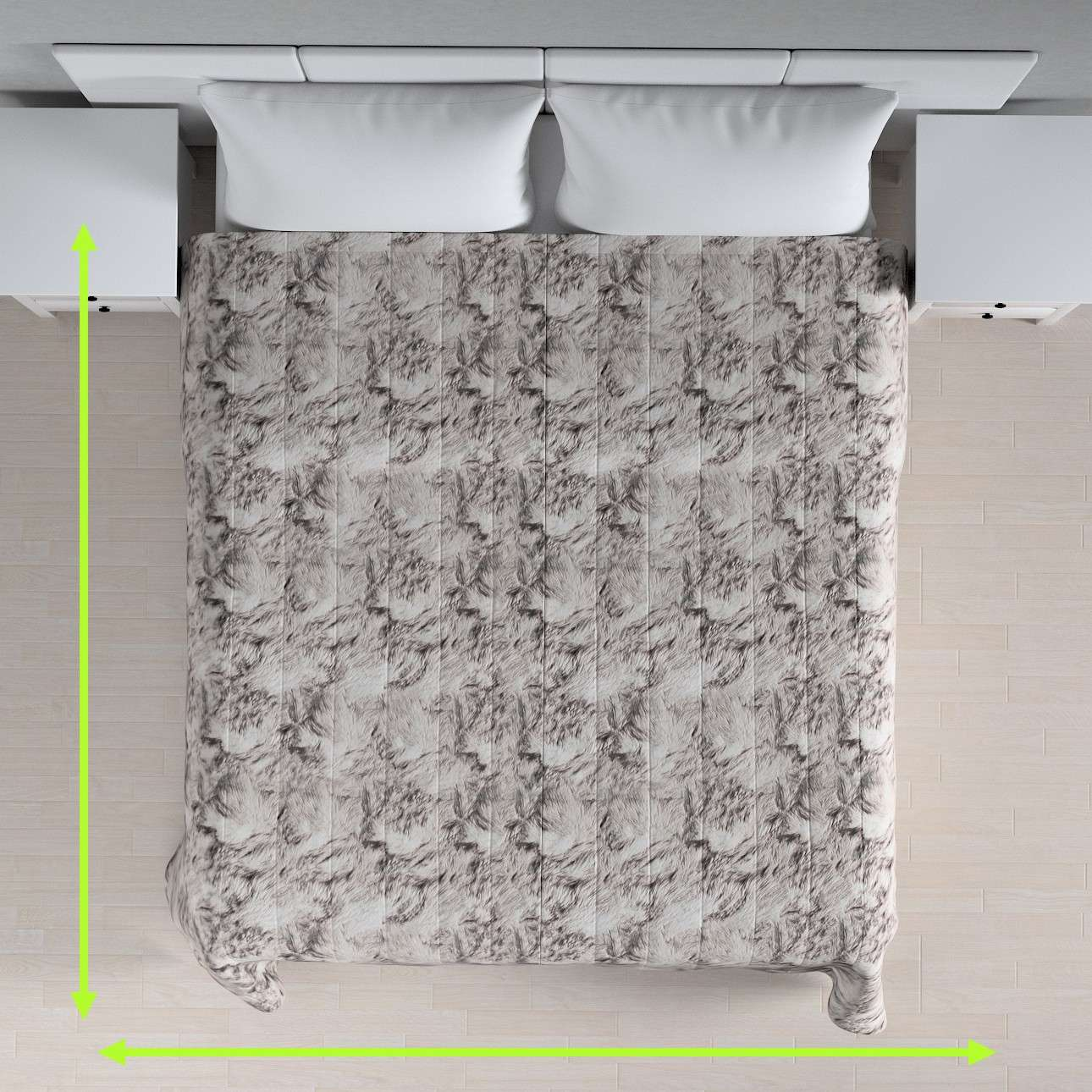 Quilted throw (vertical quilt pattern) in collection Norge, fabric: 140-82