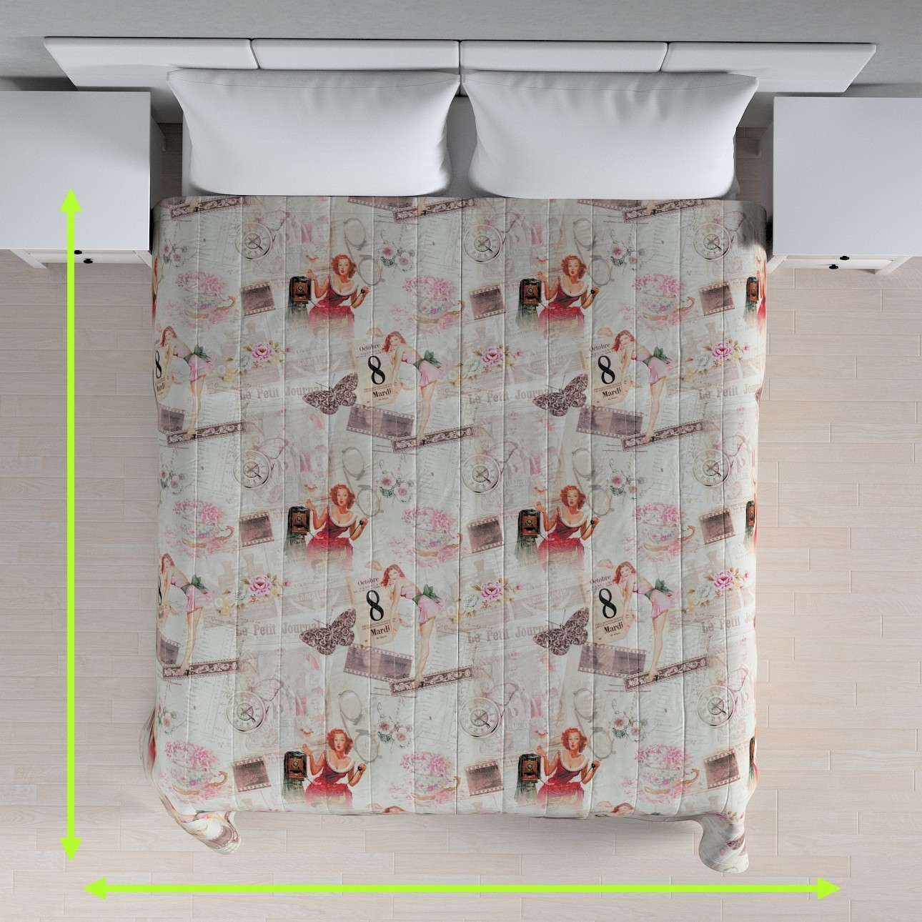 Quilted throw (vertical quilt pattern) in collection Freestyle, fabric: 140-99