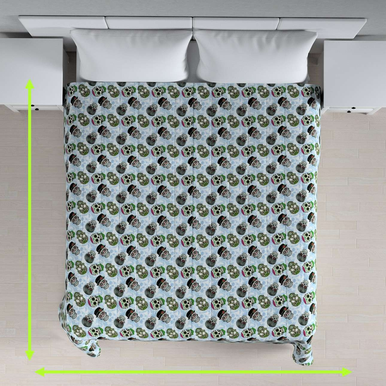 Quilted throw (vertical quilt pattern) in collection Freestyle, fabric: 141-01