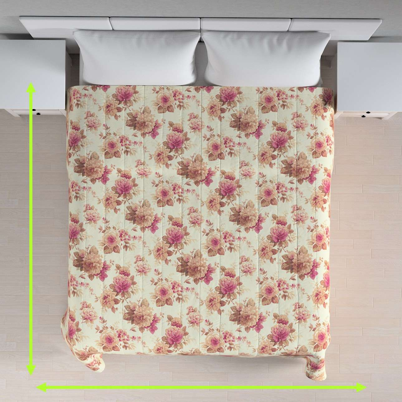 Quilted throw (vertical quilt pattern) in collection Mirella, fabric: 141-06
