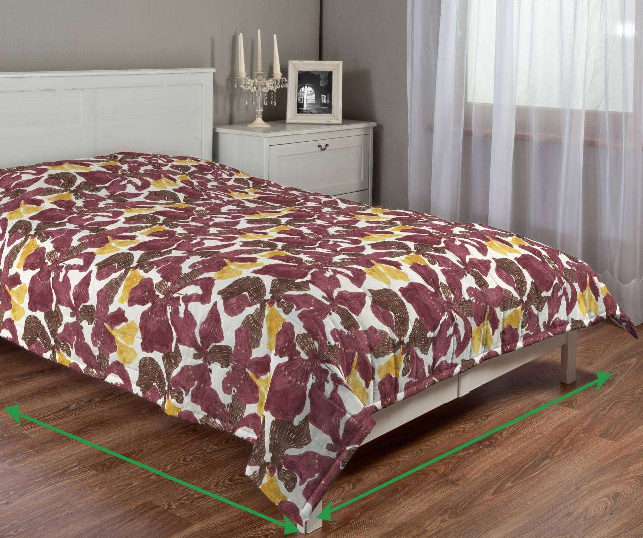 Quilted throw (vertical quilt pattern) in collection SALE, fabric: 141-09