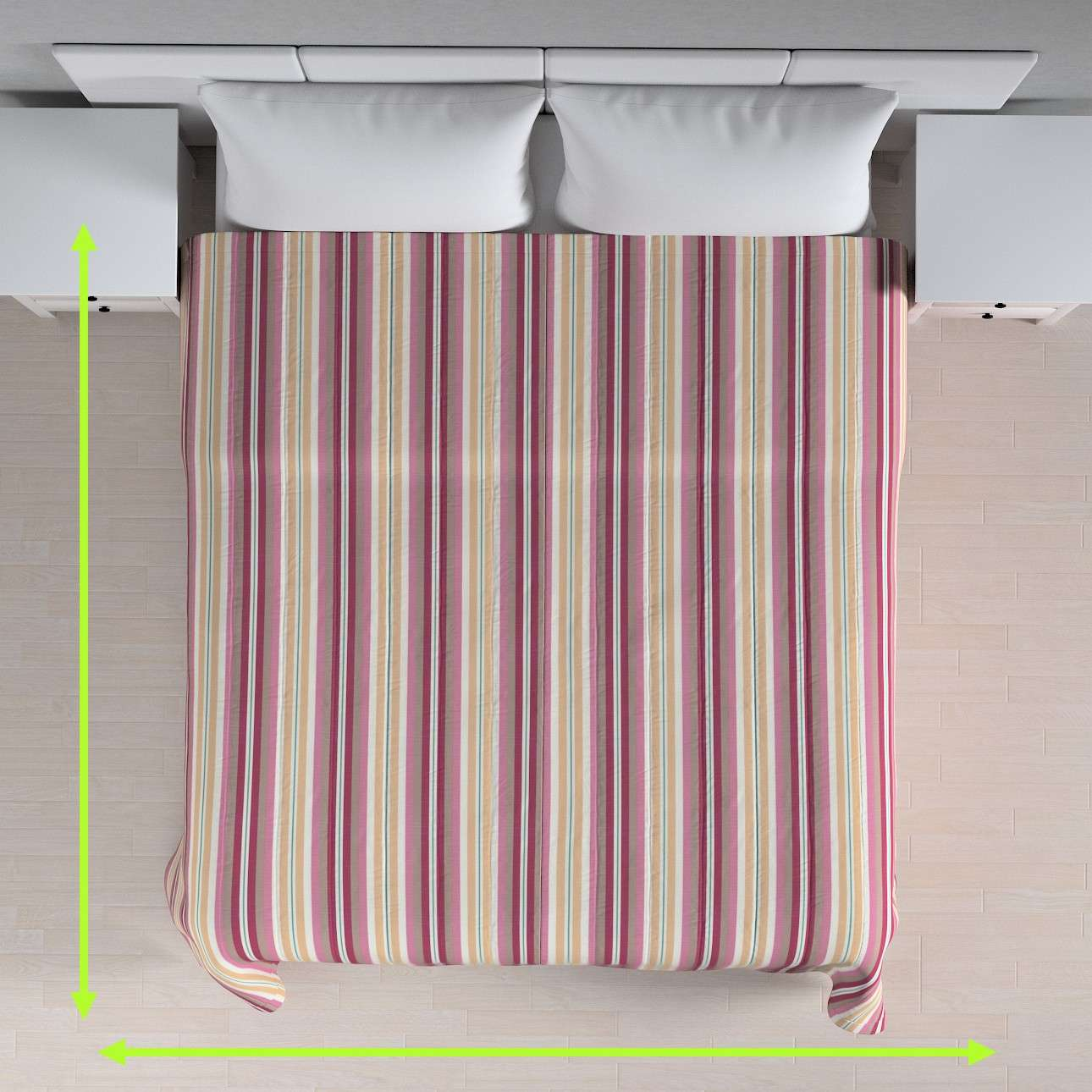 Quilted throw (vertical quilt pattern) in collection Mirella, fabric: 141-14