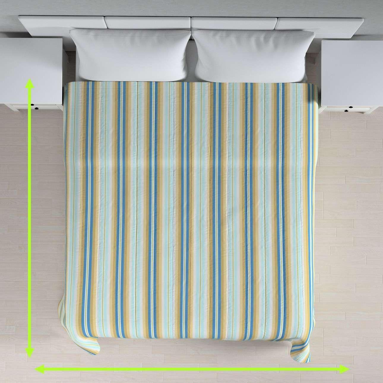 Stripe quilted throw in collection Mirella, fabric: 141-17