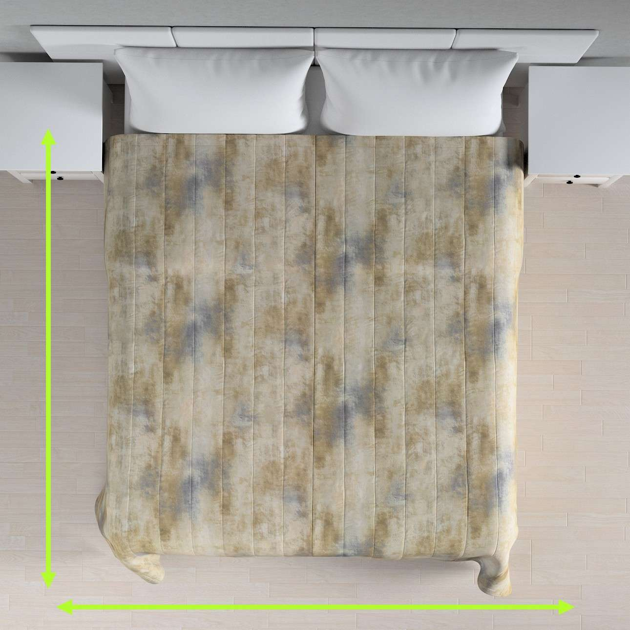 Quilted throw (vertical quilt pattern) in collection Urban Jungle, fabric: 141-23