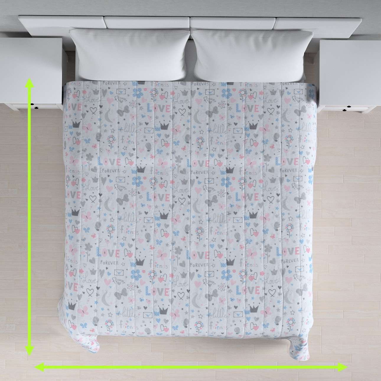 Quilted throw (vertical quilt pattern) in collection Little World, fabric: 141-27