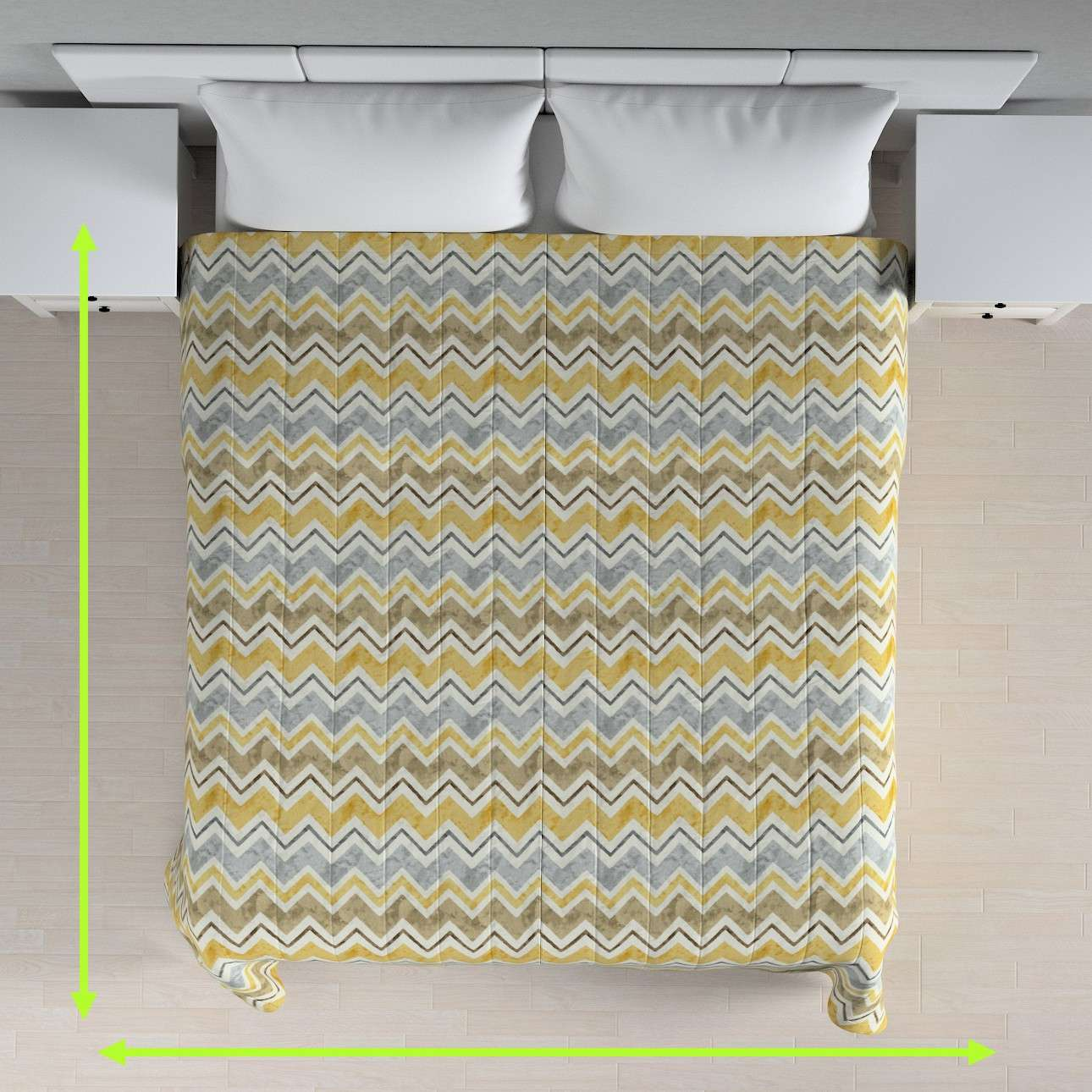 Quilted throw (vertical quilt pattern) in collection Acapulco, fabric: 141-39