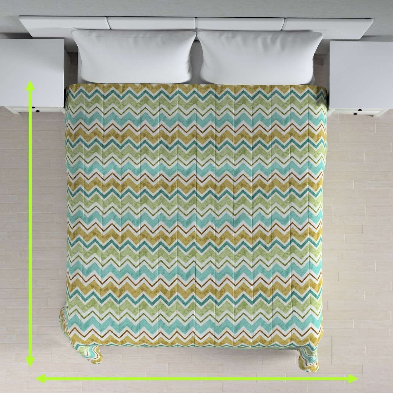 Quilted throw (vertical quilt pattern) in collection Acapulco, fabric: 141-41