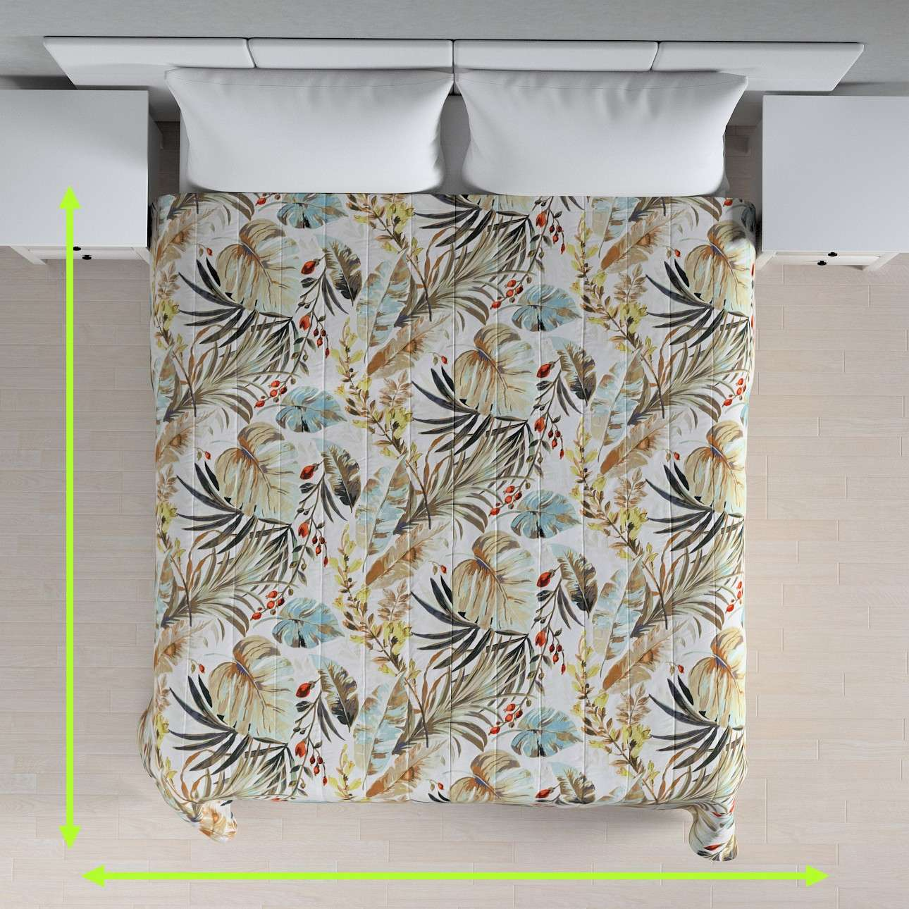 Quilted throw (vertical quilt pattern) in collection Urban Jungle, fabric: 141-42