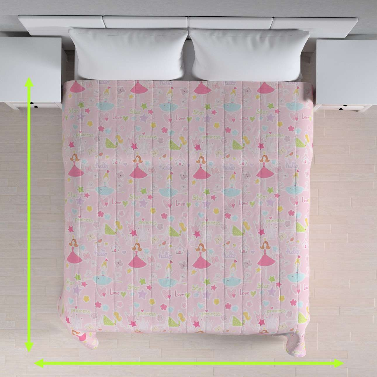 Quilted throw (vertical quilt pattern) in collection Little World, fabric: 141-50