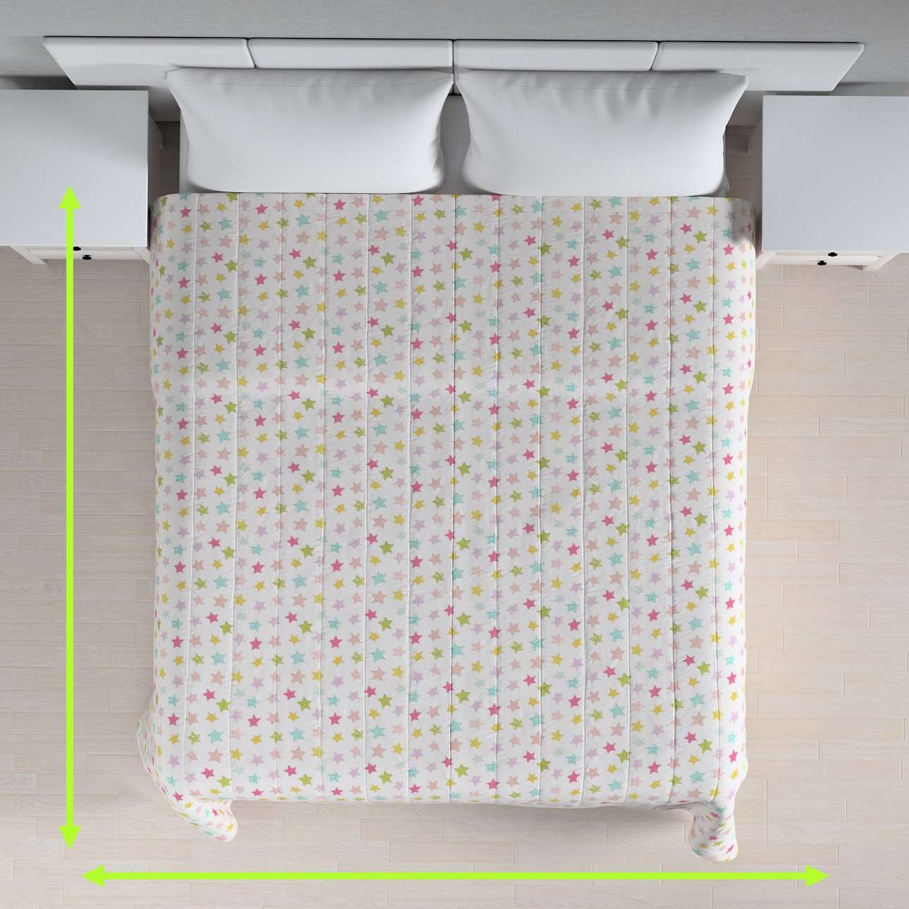 Quilted throw (vertical quilt pattern) in collection Little World, fabric: 141-52