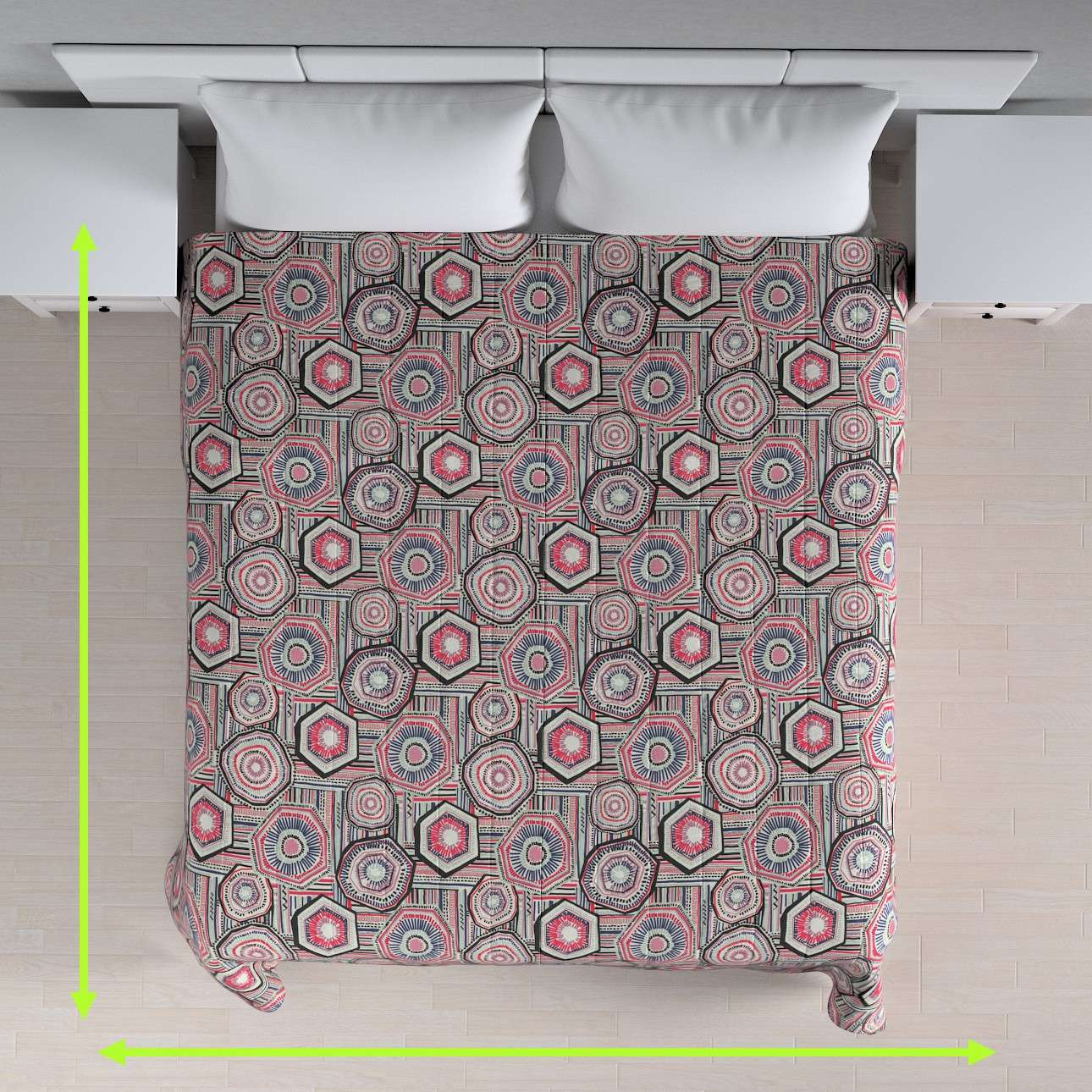 Quilted throw (vertical quilt pattern) in collection New Art, fabric: 141-54