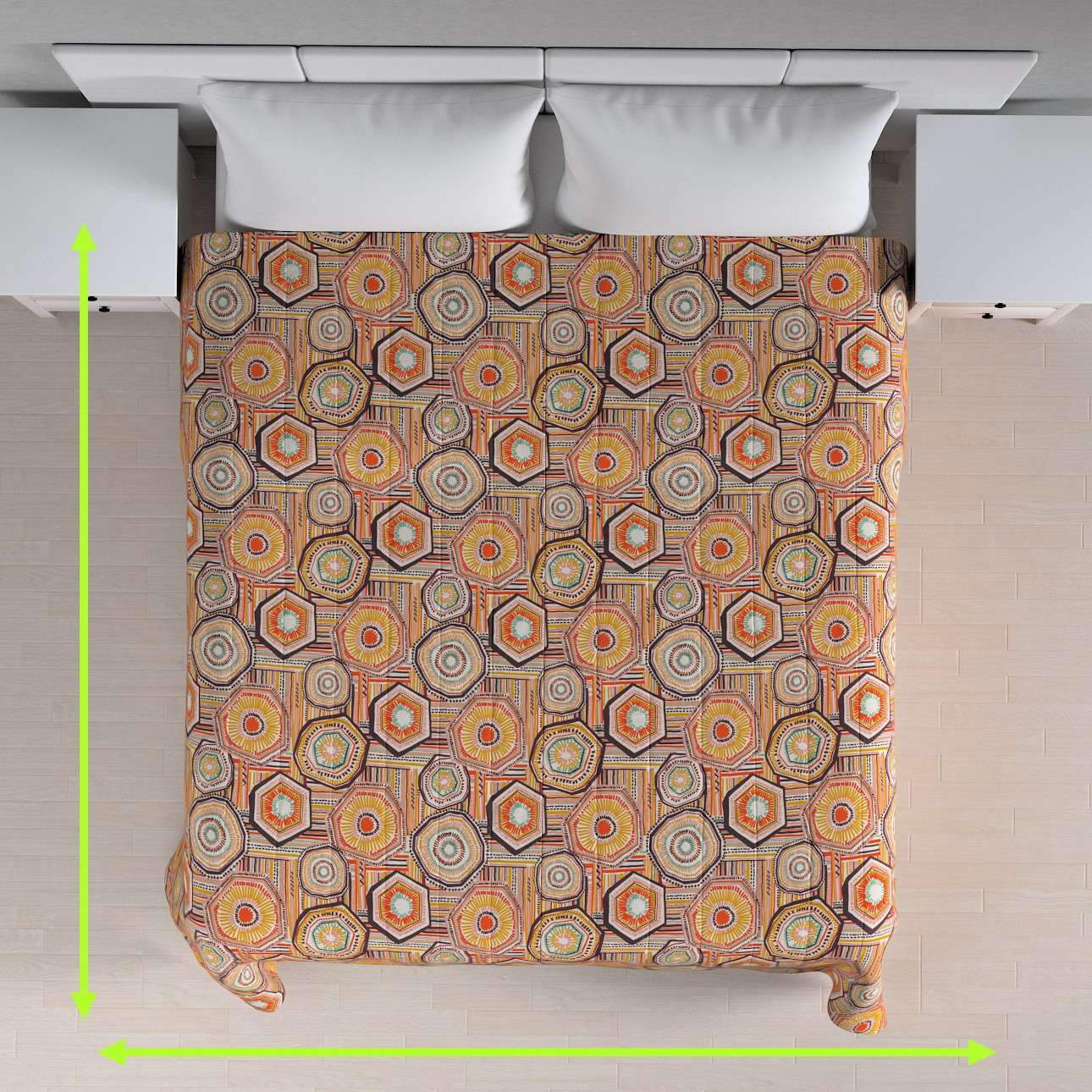 Quilted throw (vertical quilt pattern) in collection New Art, fabric: 141-55