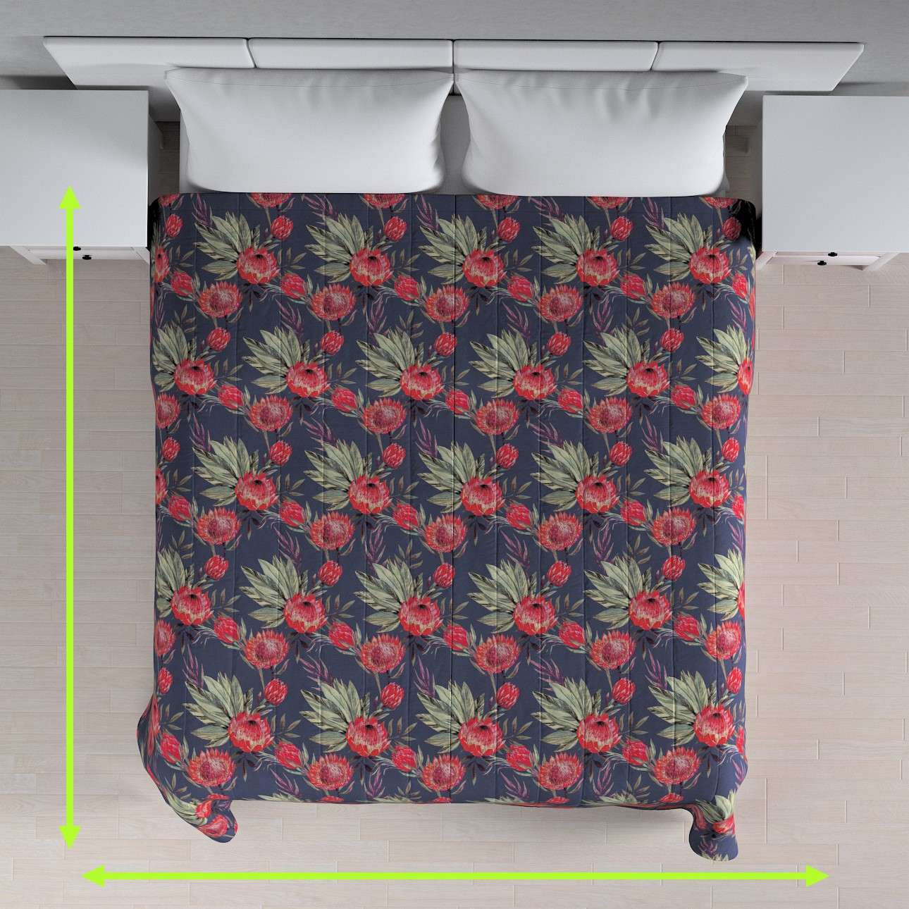 Quilted throw (vertical quilt pattern) in collection New Art, fabric: 141-57