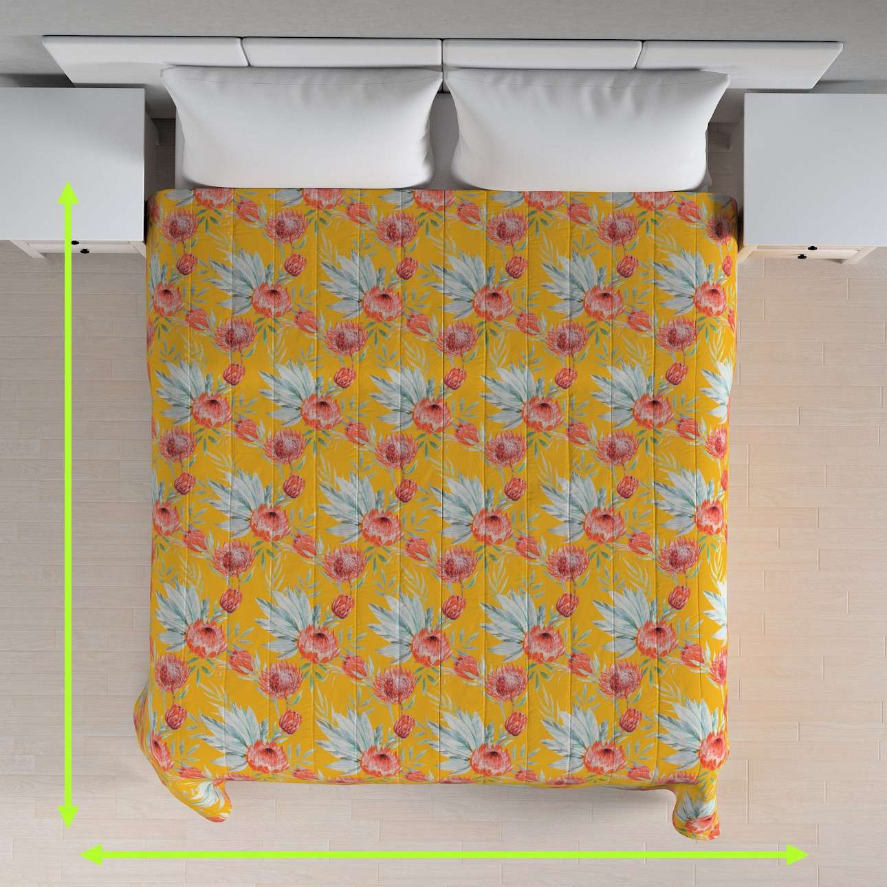 Quilted throw (vertical quilt pattern) in collection New Art, fabric: 141-58