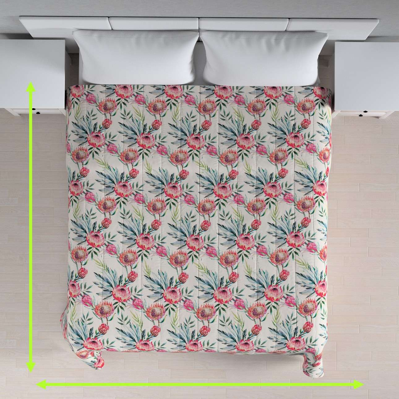 Quilted throw (vertical quilt pattern) in collection New Art, fabric: 141-59