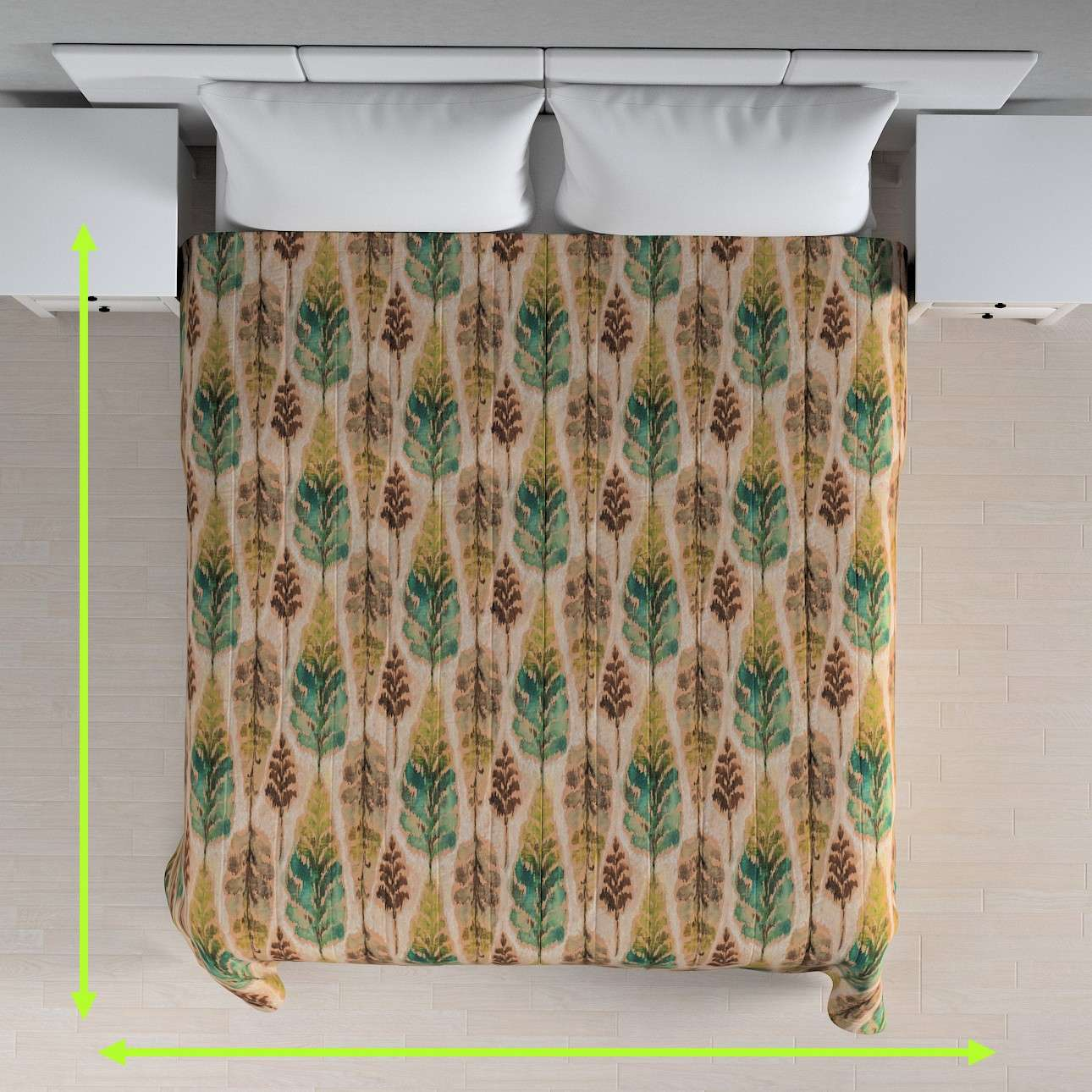 Quilted throw (vertical quilt pattern) in collection Urban Jungle, fabric: 141-60
