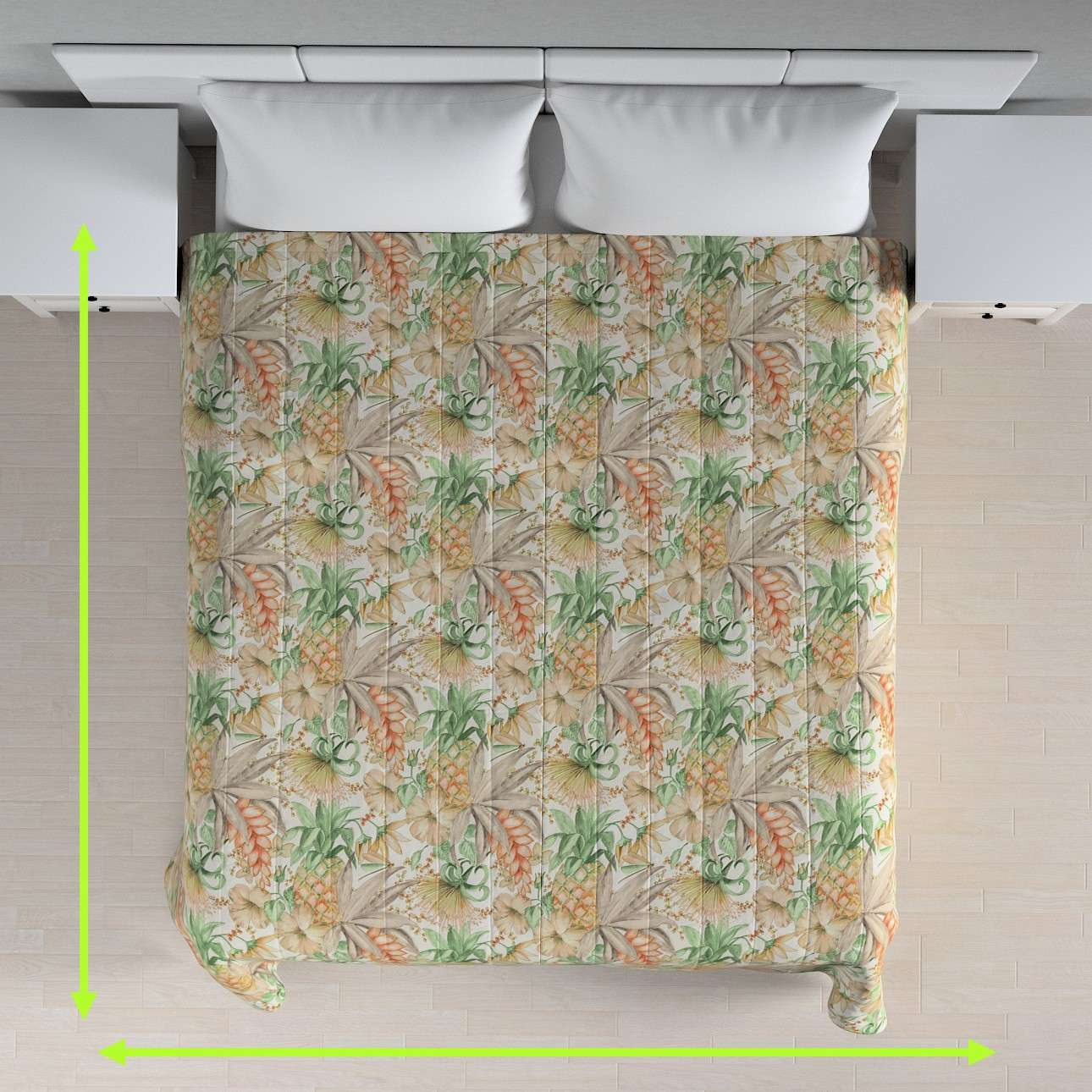 Quilted throw (vertical quilt pattern) in collection Urban Jungle, fabric: 141-61