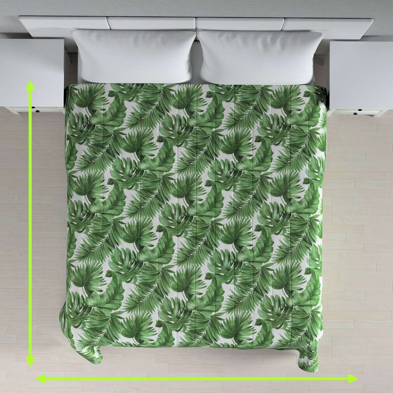 Quilted throw (vertical quilt pattern) in collection Urban Jungle, fabric: 141-71