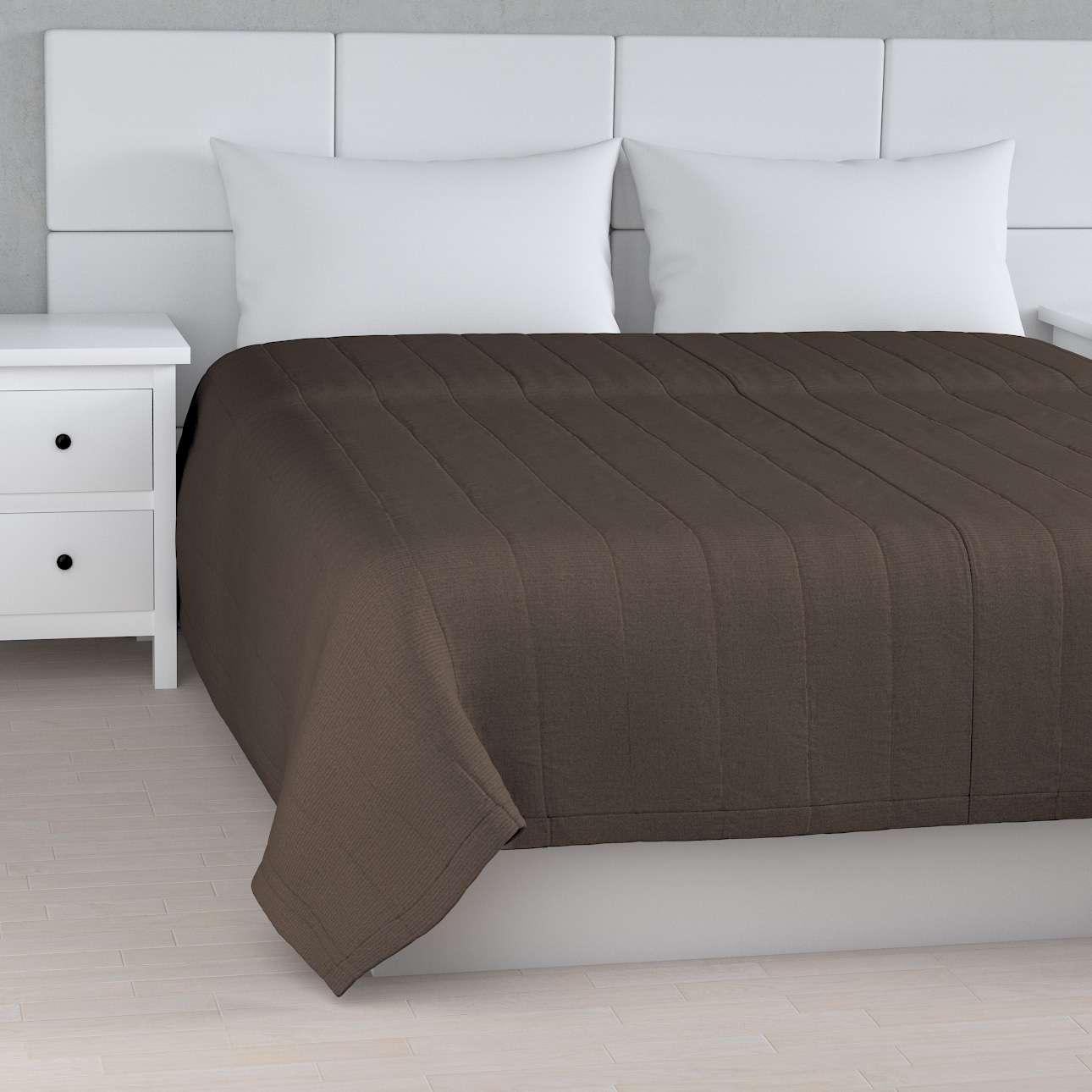 Sengetæppe quiltet<br/>10cm striber fra kollektionen Etna, Stof: 705-08