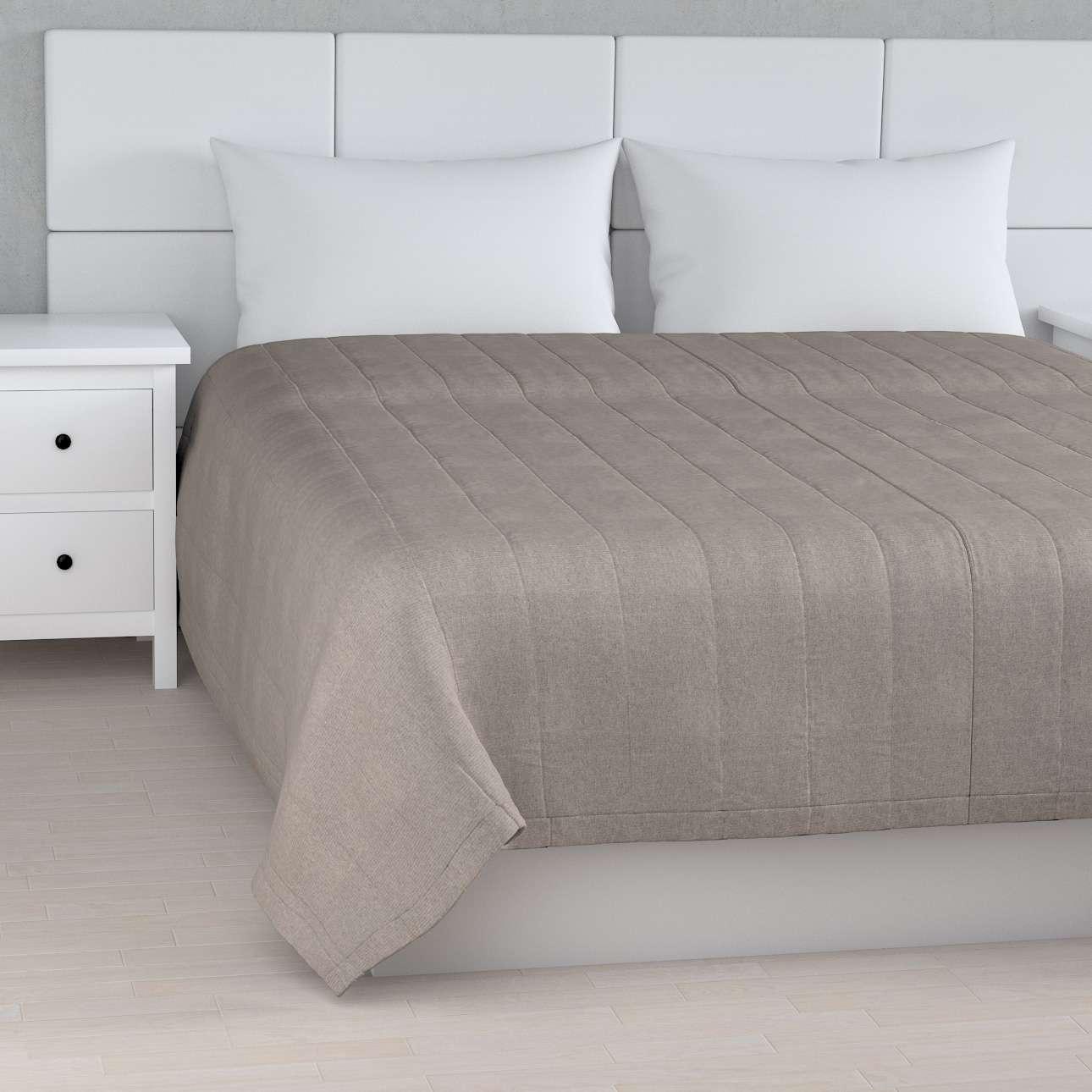 Sengeteppe quiltet<br/>10cm striper fra kolleksjonen Etna - Ikke for gardiner, Stoffets bredde: 705-09