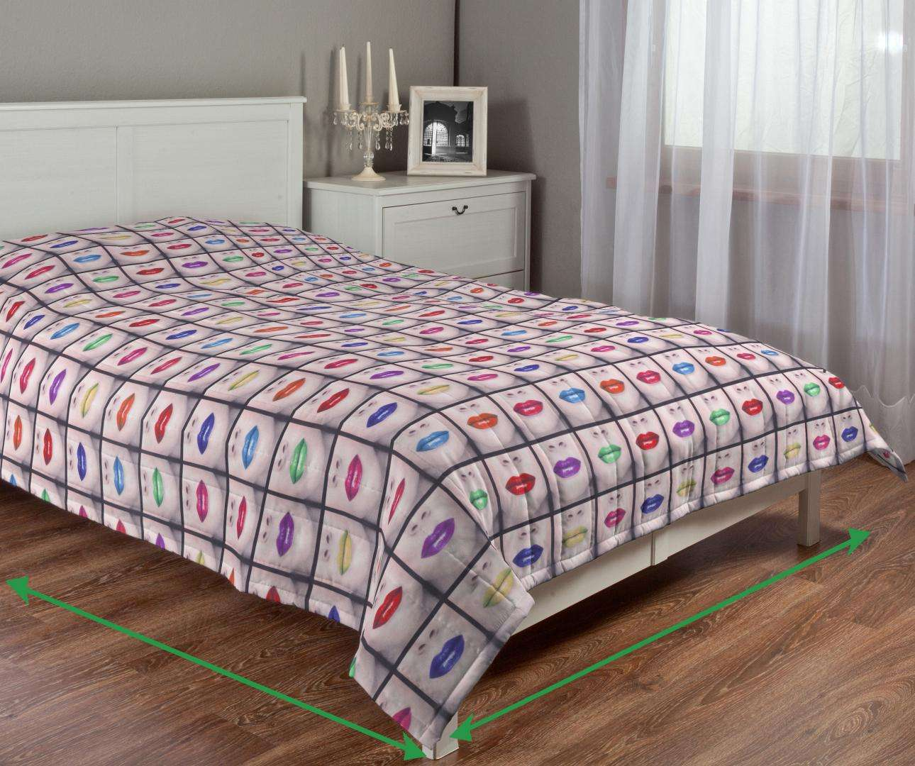 Quilted throw (vertical quilt pattern) in collection Freestyle, fabric: 150-05