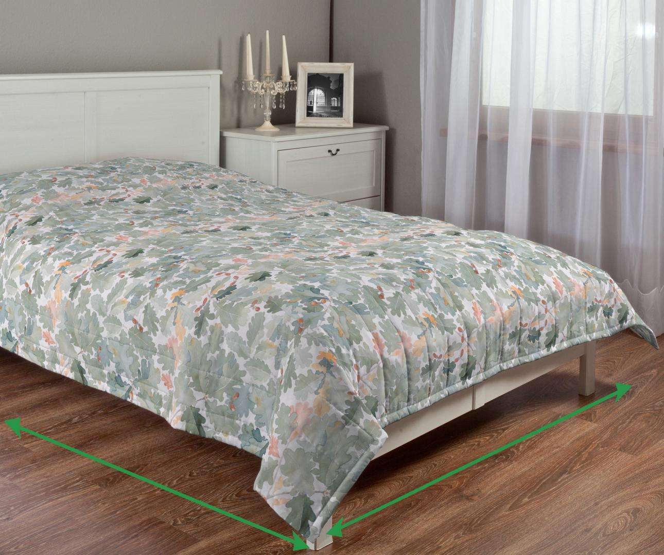 Quilted throw (vertical quilt pattern) in collection Norge, fabric: 150-17