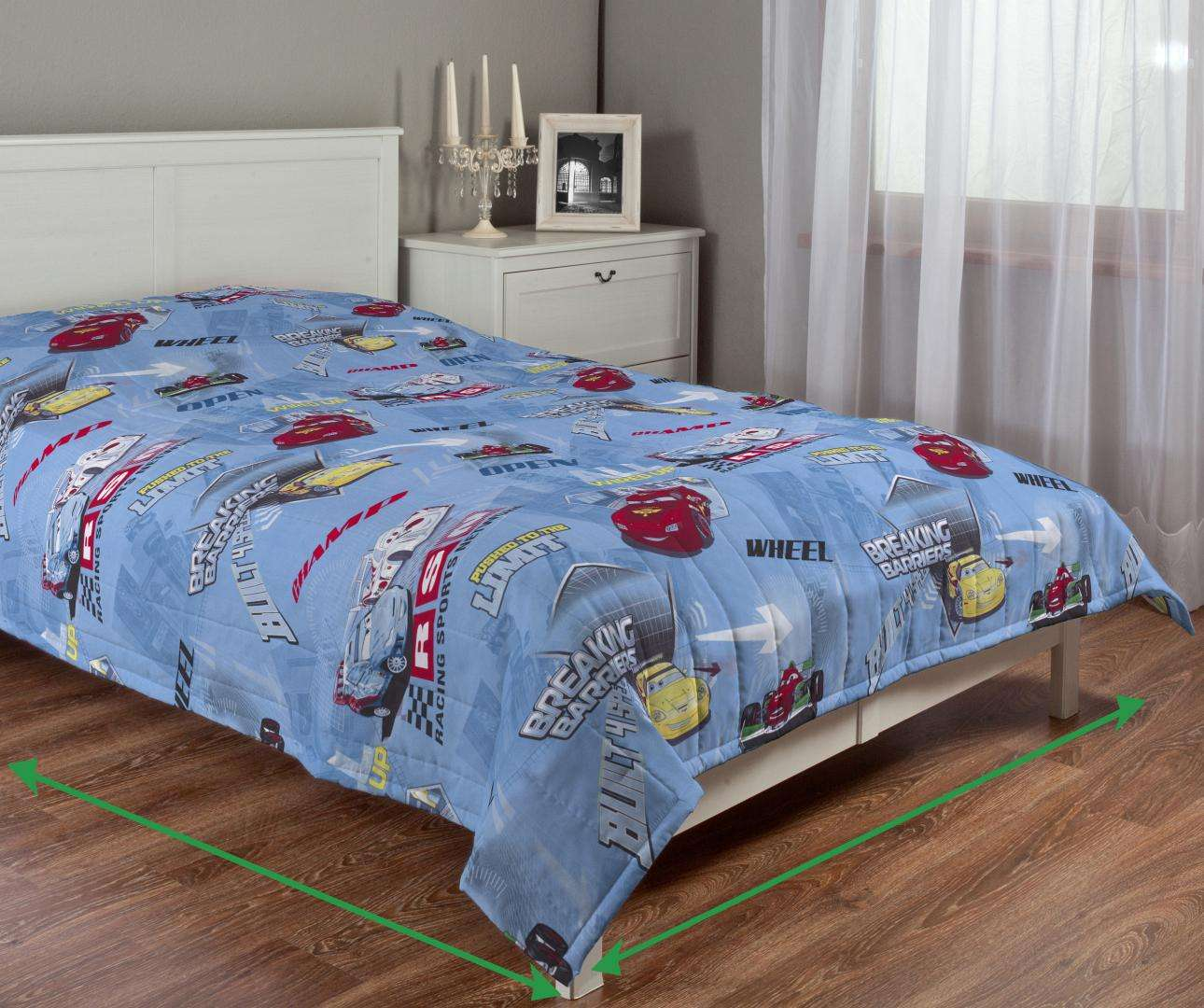 Quilted throw (vertical quilt pattern) in collection Freestyle, fabric: 150-20