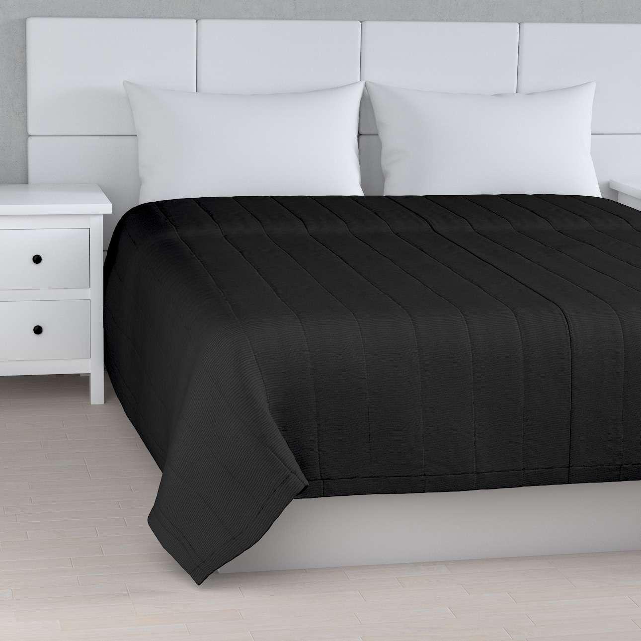 Sengetæppe quiltet<br/>10cm striber fra kollektionen Etna, Stof: 705-00