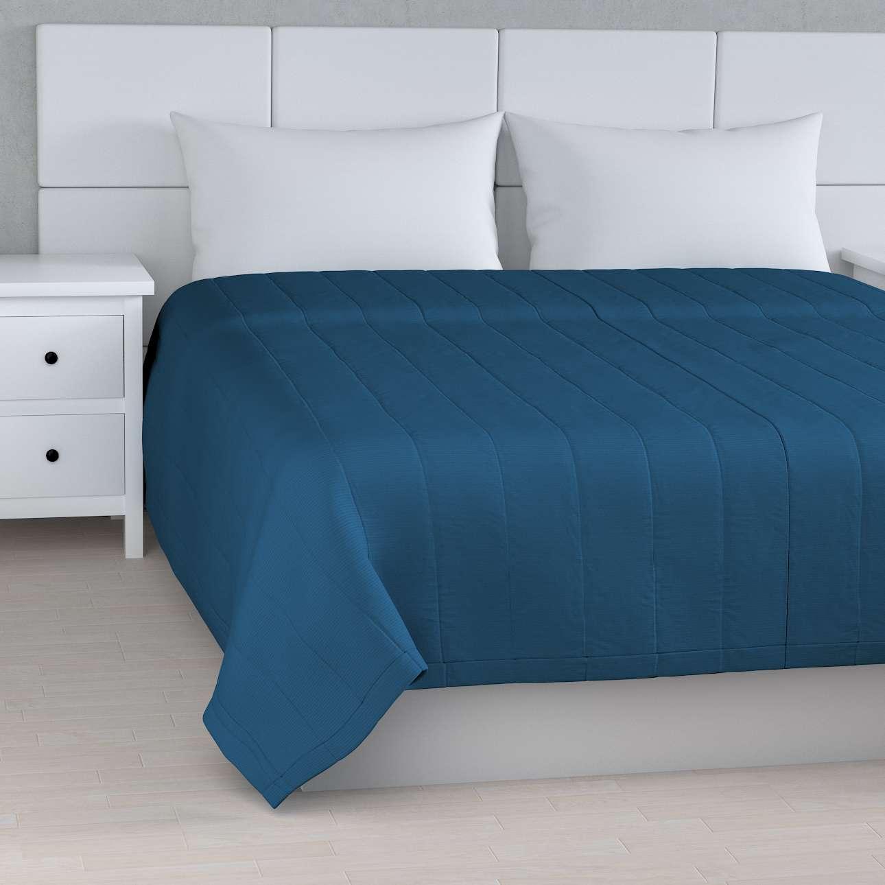 Tagesdecke mit Streifen-Steppung von der Kollektion Cotton Panama, Stoff: 702-30