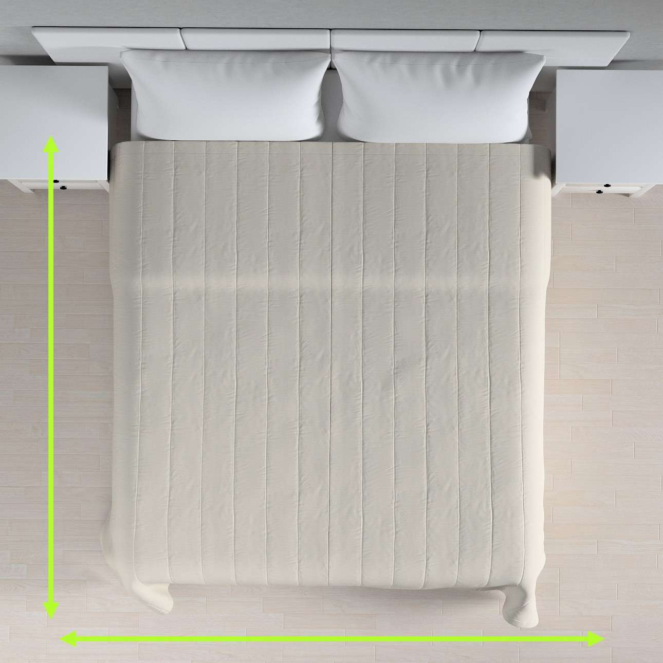 Eenvoudige sprei van de collectie Cotton Panama, Stof: 702-31