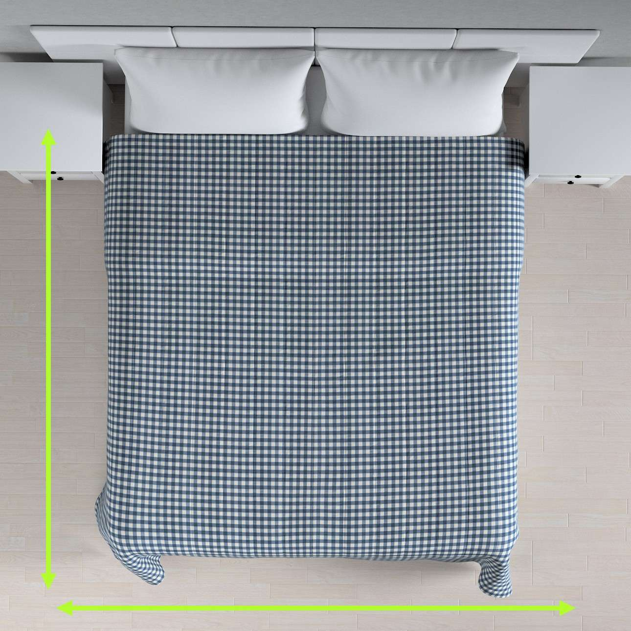 Prehoz  s pozdĺžným prešívaním V kolekcii Quadro, tkanina: 136-01