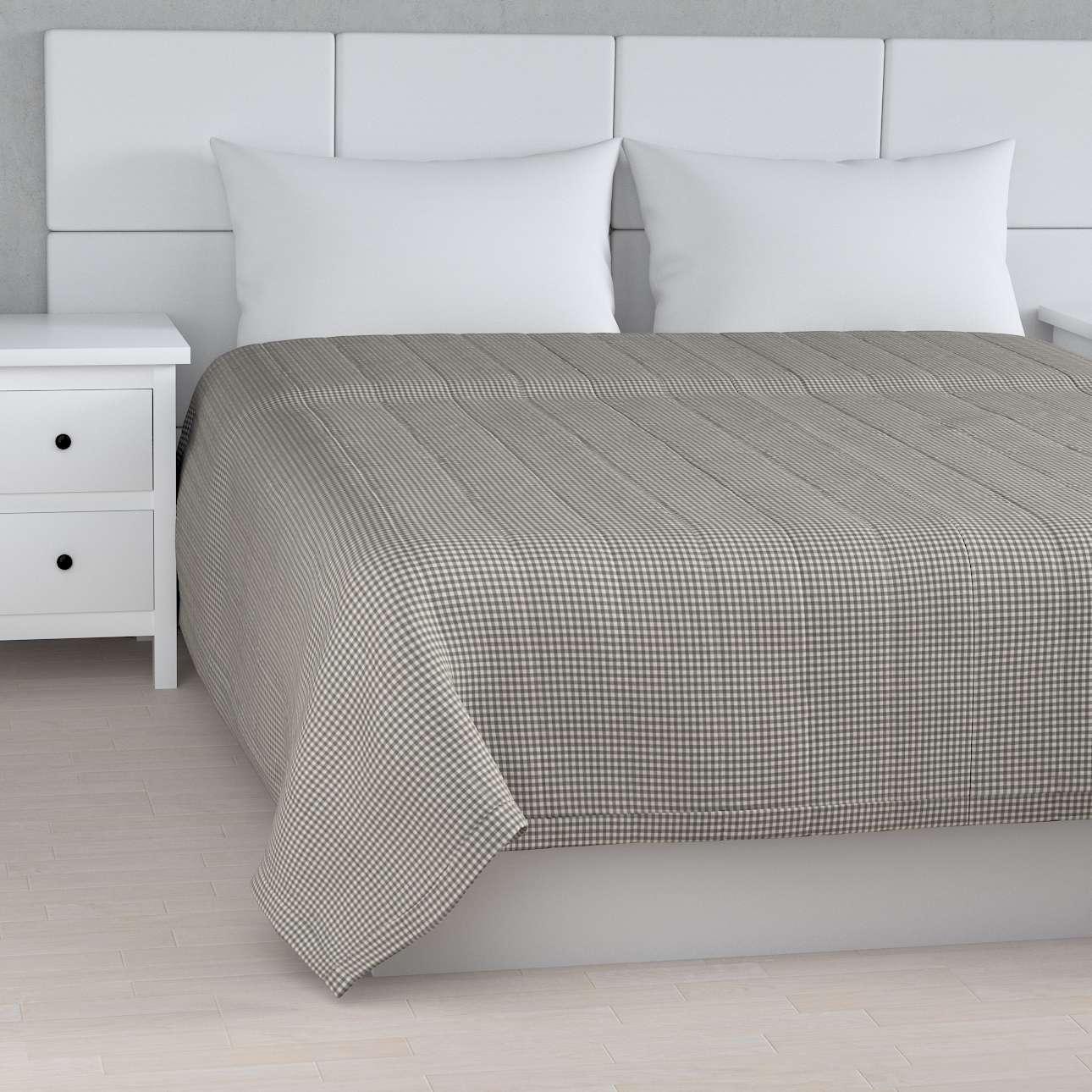 Sengeteppe quiltet<br/>10cm striper fra kolleksjonen Quadro, Stoffets bredde: 136-10