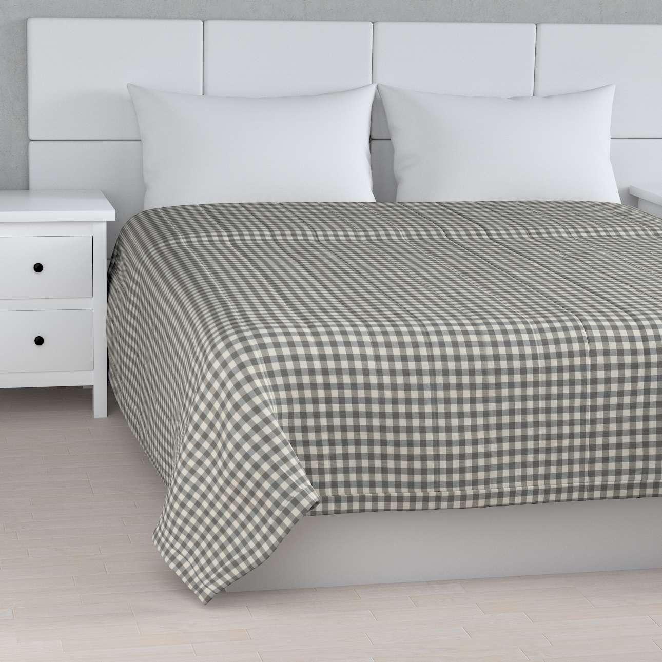 Tagesdecke mit Streifen-Steppung von der Kollektion Quadro, Stoff: 136-11