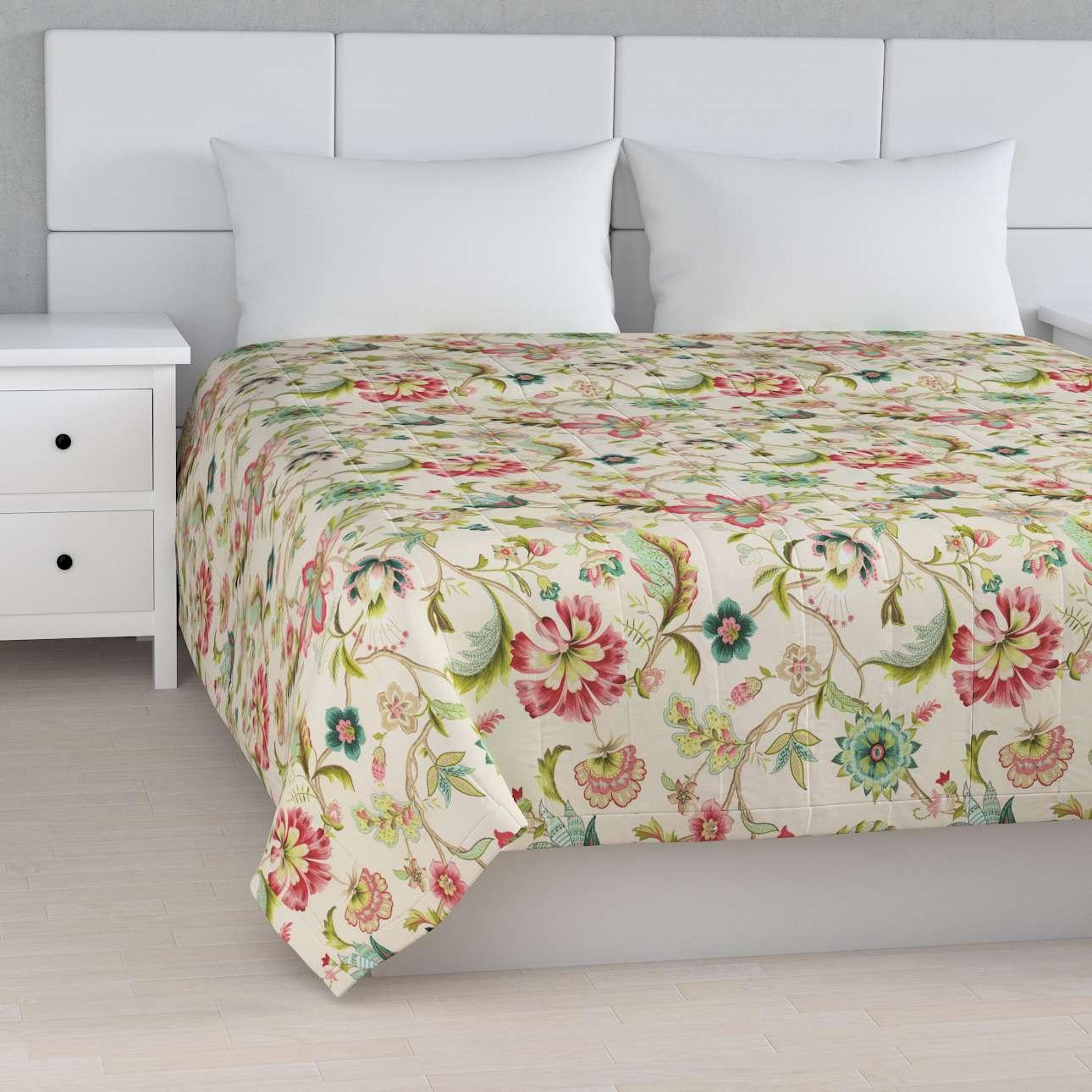 Sengetæppe quiltet<br/>10cm striber fra kollektionen Londres, Stof: 122-00