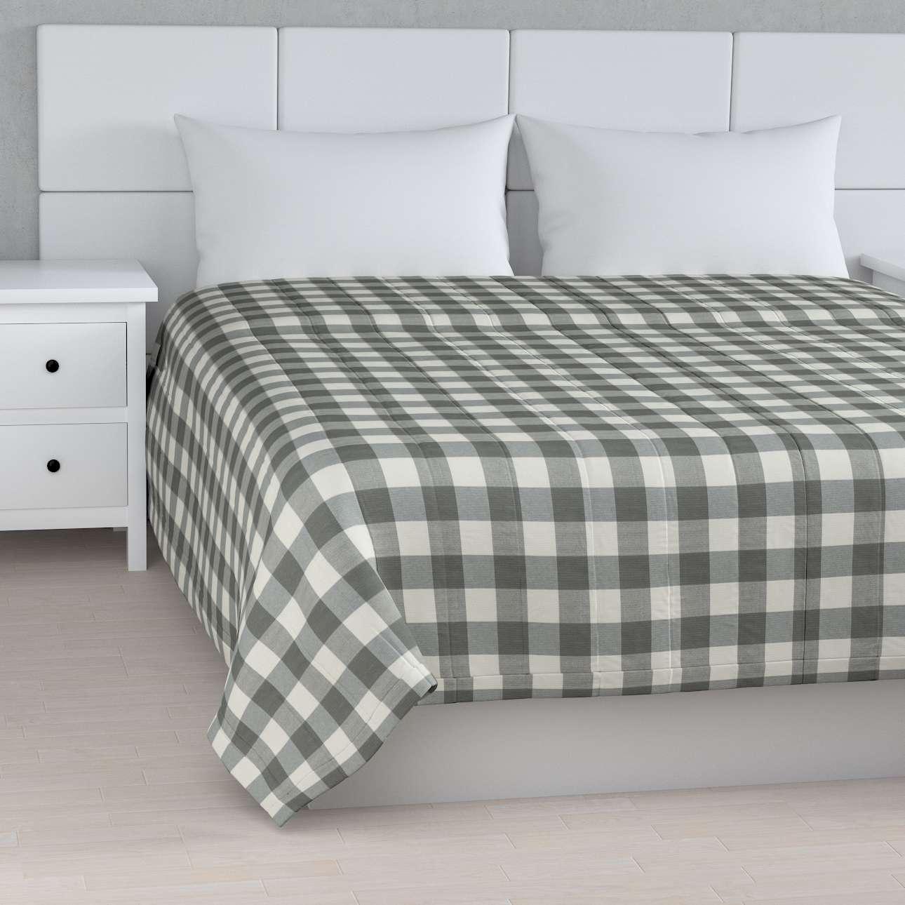 Tagesdecke mit Streifen-Steppung von der Kollektion Quadro, Stoff: 136-13