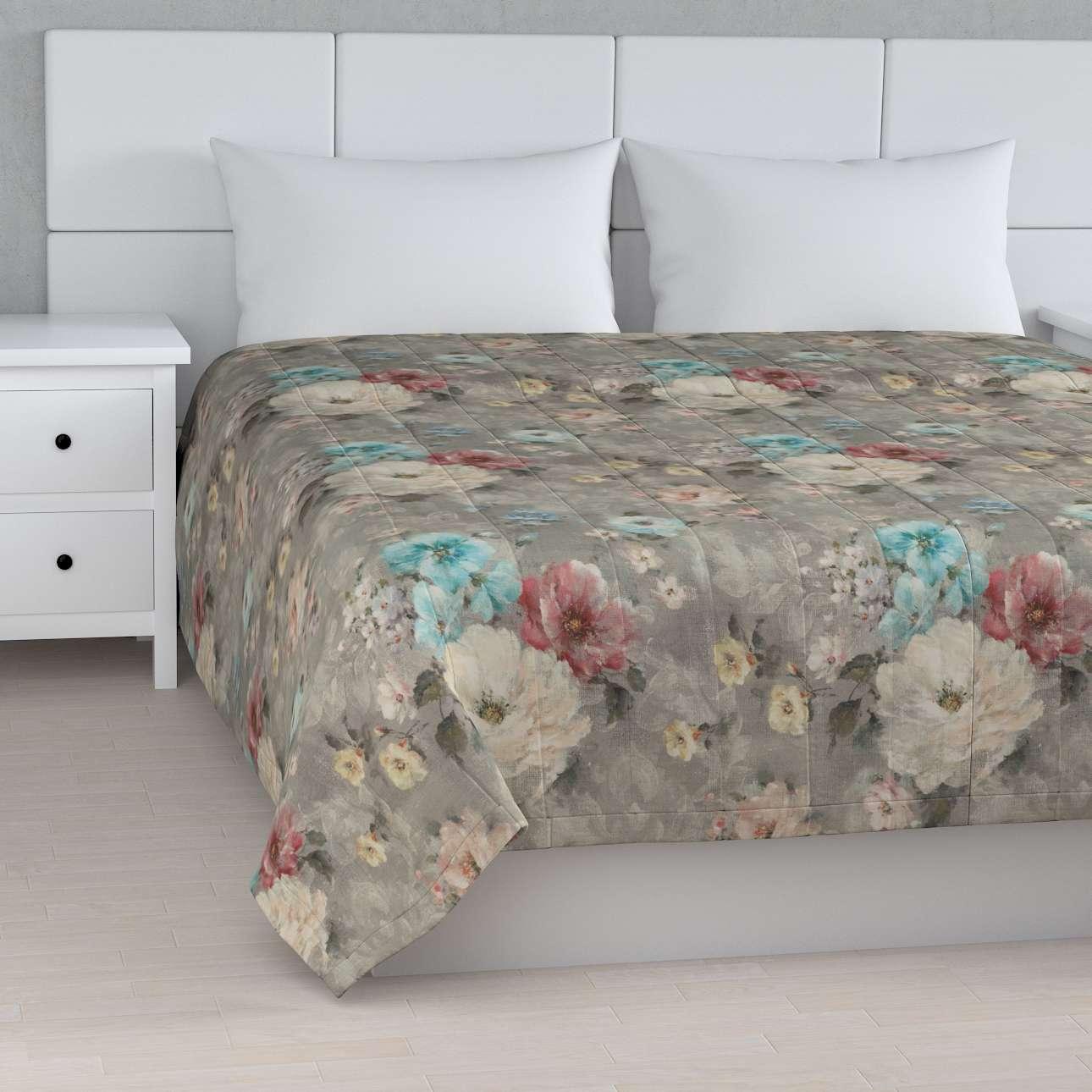 Sengeteppe quiltet<br/>10cm striper fra kolleksjonen Monet , Stoffets bredde: 137-81