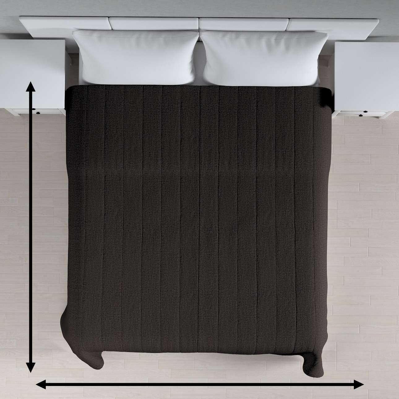 Cuvertura matlasata cu model în colecție Etna, țesătură: 702-36